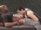 Hot, Black, and Hung Stud Champ Robinsons Lays It Down Thick and Hard When He Meets Lust-filled Bottom Adrian. Champ Turns It Out, Intensely Pounding Away At Adrian's Hole Before Covering His Asshole In a Shower of Cum.