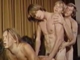 Gay Porn from bijougayporn - Four-man-Daisychain-1971