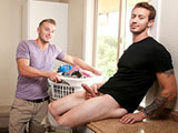 Gay Porn from nextdoorbuddies - Laundry-Room-Hookup