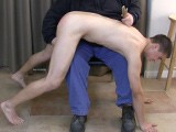Gay Porn from SpankingStraightBoys - Davids-First-Spanking