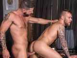 Gay Porn from TitanMen - Tex-Gives-Damien-His-Huge-Barber-Pole