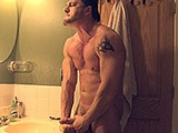 Gay Porn from americanmusclehunks - Pec-Flexing-Muscle-Solo