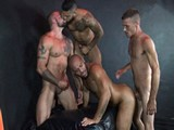 Gay Porn from RawFuckClub - Leo-Forte-Gang-Fucked