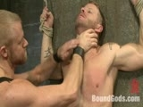 gay porn Jeremy Stevens And Chr || Morgan Black makes a bondage house call a for very nervous Blake Daniels.