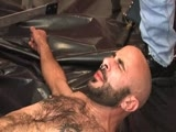 gay porn Boyhous Gets Pissed On || Boyhous back talks muscle daddy Blaze, so gets tossed on the floor, used and pissed on by a group of muscled up construction workers.