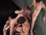 gay porn Club Orgy Part 1 || Dayton O'Connor sets the stage for a steamy group fuck session sucking Max Cameron while Ryan Jamieson and Blue Bailey worship his cock.  Hot bottom Blue Bailey selfishly corners big-dicked top Ryan Jamieson while Max and Dayon fuck each other senseless.