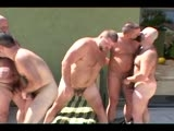 Caution to viewers: this video may cause you to have heat 'stroke'!  These 5 hunky, hairy bears prove that in the Palm Springs desert the sand isn't the only thing that sizzles!
