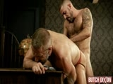 gay porn Michel And Dirk || Big Daddy Dirk Caber Takes a Right Royal Rogering From Hairy, Big-dick, Italian Stud - Michel Rudin.