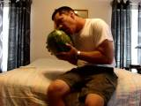gay porn Tyrone Humps Watermelo || Tyrone Powers Has a New Girlfriend - a 20 Pound Watermelon Named Lolita. They Met and Hooked Up At the Local Grocery Store. Tyrone Licks Lolita's Juicy Pussy and Gives Her a Good Pounding.