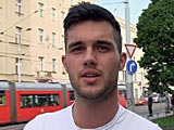 gay porn Czech Hunter 94 || When we started our homepage project we realized how it is possible to talk straight boys into gay sex. Step by step. A little money here, a small bonus there and you can soon put your dick into their virgin asses. But this time I wanted to try something new. I wanted to find a guy who would agree on having sex with me for 25.000 crowns ? right on the spot. And to even make the game a little bit more demanding he had to also find another guy from the street willing to join us for the same amount. I was finally able to persuade a guy who really looked like a fashion model. He insisted that he would do it because he was bi-curious. I insist that it was the money ;-)