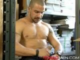Warehouse manager Jed's checking the goods on the shelves when he discovers trainee Toby naked and stroking his fat dick to a jizz mag. Checking the goods in Toby's hand, Jed decides against instant dismissal and opts for some staff training instead. Lesson one is how to take the boss's uncut cock down your throat and how to count the thrusts as he's pounding your arse, ramming his length inside your tight hole, his balls slapping against yours. Lesson two is how the boss's hot spunk feels as he empties his sack onto you, and how he likes you to play with his cum. Good thing Toby's a quick learner or he'd be out of a job. In fact if he carries on performing like this he could find himself up for promotion!