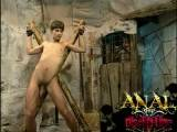 naked slave boy teases his master looking on like a voyeur, full video at AnalDiscipline.com