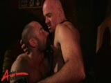 Favourite hairy hunk Butch Grand opens the show at the Hoist with a fellow thick dicked bear, Ray Stone. Feasting on each others throbbing cocks, these horny men are after dick and know exactly where to get it. Getting each other's shafts dripping with spit, Butch needs to feel ass, and lubes up his mates butt ready to take his nicely curved dick all the way inside. Watching these two hairy hunks get it on it going to make you rock hard and thrusting away.