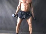 gay porn Swinging Dick || (thats not me in the video) Look at homboy jumping jacks, working out, and have a little fun. That big dick cant stay in those tiny shorts
