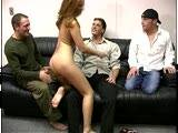 Three hot bisexual men and a female slut get into some serious 4way bisexual fun !