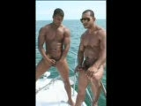 Watch Joelle and Ricky stroking their hard, uncut cocks out on the open water. Crazy antics, muscle posing and beating their meat !!!