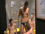 The sexy gay men in this streaming video get together and show off their cute little butts covered in the barest of briefs. Plenty of suck and fucking in this party too!