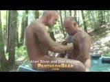 gay porn Bear Season Allen & Da || It's Lazy Bear weekend at the Russian River where we find Allen Silver stepping into a secluded hot tub surrounded by redwoods, but he isn't alone. Already in the tub is super-hot new comer Dan Kryczak. They start slow, touching each other's already swollen cocks before the kissing, sucking,and rimming begins. Overheated, they move to the picnic table where Allen is the first to get inside Dan's very hairy bear hole. Allen is into flip-flop fucks, though, so soon it's his turn on the table, legs in the air, wanting it, getting it.