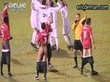 EricDeman captured an amazing goal in this football tournament where a players shorts slide down while on the field. Determined to see his team to victory, the cheeky footballer drives the ball home bouncing it off from his fully exposed cock! The opposing team object to the referee pulling down their own shorts until the field is filled with hot exposed footballers! Download and save this amazing video from EricDeman.com!