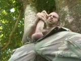Collin O'Neal is one of the biggest porn stars around, famous for his well built, hairy body, classic good looks and of course his big cock that shoots like a fire-hose. That big cock of his gets a good showing in this solo video of Collin jerking below a large rainforest tree and blowing one of his famous loads. See more at extrainches.com