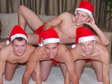 The CollegeDudes247 guys are ready for the holidays! After goofing around in their jock straps, Hayden Wolfe gives three hot college studs Carter Nash, Logan Birch, and Rob Ryder a mouthful of eggnog right from his cock.