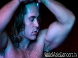 gay porn Hairy Muscular Stud Fr || Hairy muscular masculine Italian stud Francesco strips on stage at Stock Bar. Every night, you can watch a live stream of male strippers at NudeMaleDancers.tv