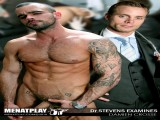 Menatplay favourite Damien Crosse visits the Doc hoping to get his hands on some blue pills and ends up getting much more then he bargained for... After a quick initial examination Doctor Stevens tries to prove he doesnt need teh pills and inserts a prostrate massager into him and his low moans and rock hard cock indicate his approval. The pleasure is almost too intense and he quickly explodes a huge load of cum!