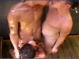 3 hot amateurs all young get it on under this outdoor sex shower !