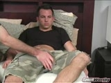gay porn Mason's Helping Hand || When Mason heard about the Helping Hand videos, it was actually him who asked if it was something he could get in on. He has an adventurous side to him that borders on bi-curious. There are definitely some blurry boundaries in his sexuality. Once the cameras started rolling he was ready to go before his shorts even came off, with a big hard-on waiting just behind the zipper. He had mentioned wanting to try a FleshJack so I made sure to have one handy. His dick swelled up even more when I slid it inside. Mason started out fairly quiet and kept his eyes locked on the porn playing in the background, occasionally glancing down to watch his cock getting worked over. As things went on, though, he started letting go and getting into the moment. Once he flipped back over after having his ass played with, all the barriers were gone. He started playing with his nipples and telling me to &quot;go faster&quot; until he unleashed a blast of cum all over his stomach while moaning and writhing all over the bed!