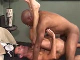 With 10 inches, Rod Rockhard is the cock king in this video. Mark Mann (who is hung big himself) is happy to worship that donkey dick and see if he can handle it up his ass. He can AND does. First he sucks it, almost choking but never stopping. Then he takes it, Rockhard pulling in and out, in and out.