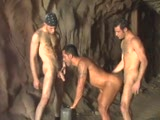 Tommy Blade gets his hungry ass and mouth filled by two hung studs. Clip from All World Videos SHARP