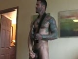 gay porn Belt Fuck || Alexsander Freitas, hairy muscular god that he is, was filming his solo for us when an obsessed fan broke through our security guard to catch a glimpse of Alex. At first, Alex was pissed then decided to take it out on the poor guy, Ari, pulling him with his huge belt to get on his knees and suck his dick. Before long, the belt is around Ari's neck and Alex is leading him to the bedroom for the fucking he deserves. Watching Alexsander's hairy dick plow cute Ari's ass from behind will make you wish you had broken into the room for your own private suck and fuck with Mr. Freitas.