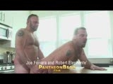 Hot bear Joe Ferrara has a clogged drain but he's the one whose gonna' use his snake to open things up. Robert's big bear ass gets Joe's attention and soon they're going at it on the kitchen island.