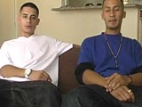 Check this two hot latinos as they kiss and then suck a big verga, then sticks it in in a tight culo and cums on his culo and sticks it back in with a warm load