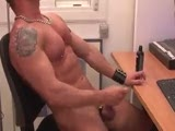 Marius Mugler porn actor jerking off.