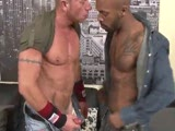 gay porn Interracial Gay Sex || Daz Nelson sucking the big black cock of Kid Chocolate.