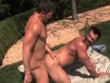 "As a new cummer to the COLT Stable of men, hard and hairy COLT Man Aaron Cage is shown a warm welcome when a sundrenched Brenden Cage invites him to come rub some sunscreen on his back. Rubbing a thick and creamy white lotion all over Brenden's well muscled back makes both men very horny. Brenden turns over for a little lotion on the front helps himself to a handful Aaron's meaty cock that has slipped out from his tight pair of cut offs. Soon enough these guys are deep into each other, sucking each other's hard cocks and enjoying the full on skin on skin contact. Brenden's smooth muscled build and Aaron's hairy pelt mesh in a flesh-fantasy of hot cock worship and dedicated ass eating. Brenden really ""breaks in"" the new guy when he drills Aaron's muscled man ass. Aaron takes it like a real man, letting that cock drive deep into him from behind grunting with pleasure as he gets fucks hard. Showing us what a real ass pounding looks like, Aaron gets up on top, driving his ass up and down on Brenden's thick cock. Brenden jacks off his hairy fuck buddy as Aaron goes wild riding that cock. Brenden gets so hot watching a real man ride his dick, he can't hold back any longer. With a loud groan he soaks Aaron is hot burst of cum. Feeling Brenden's hot jizz spray on his chest sends Aaron over the edge as he lets loose his own cum gushing load."