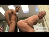 gay porn Craig Reynolds &amp; A || PFC Craig Reynolds knows how to give a good spit shine. When Alexsander Freitas finds the muscular hunk working on his boots he has something else he needs polished. The aggressive soldiers pound each other's rock hard abs and bulging pecs before Freitas shoves his fat cock down Reynolds' throat. Freitas barks orders as he rips Reynolds' clothes off and throws him up against the wall where he fucks him hard. Covered in bruises and spit they finally get their nut!