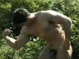Gay Porn from WankOffWorld - Body-Building-Posing