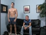 gay porn Str8: John  Bait: Jordan || John Strange is our lucky straight victim. He was in need of some pussy. It`s been a while since he last busted a nut. We knew once we got him started he would have to at least jack off in the same room as Jordan just to get his rocks off. This guy had some fierce blue eyes, nice body, big cock, just what Jordan was in need of. From the moment he got undressed you could see the gears start turning in Jordan`s filthy mind!