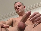 gay porn Rugged Toned Teaser! || Check out this fit and handsome fella - Brent is quite the guy what with his rugged good looks and toned, slender body. His personality perfectly matches his manly straight-guy image and then, as you peel off more and more clothes you can't help but fall more and more in lust with this guy! He has deep golden skin, bright blue eyes, a perfect body and a lovely fat uncut dick too... which he loves to play and tease with more than just wank ;-)...r<br />r<br />Now, when Brent first applied to model he said he was straight, then on arrival we managed to get him to admit to being a bit curious! But I'm still not too sure which way this guy leans or might lean... and I reckon if we got the right man in the same room as Brent then we could soon be seeing this 'straight' fella switching teams! Not that I mind either way of course - he's damn fine eye candy whatever!r<br />r<br />Anyway, back to his jerk off... Brent starts stood with his underwear still on but he quickly pulls his boxers off to reveal a semi-flaccid cock. He lubes his dick up and then spends some time playing with his cock, letting it grow to full mast. He turns his attention to his ass and nipples but soon his cock's back in his hand and rock solid... Brent ups the tempo and is soon shooting ropes of cum up his chest... I love a perfect ending!r<br />