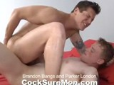 gay porn Brandon Bangs Parker L || Brandon Bangs and Parker London get it on is some hot XXX fun! Yowza!!