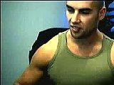 gay porn Army Hunk Muscle Fetis || Cute and horny muscled army dude showing off some of his assets on his webcam. See him chatting and posing his nice muscled chest to tease his chatmates online.