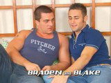 This is the second time Blake and Braden have worked together. The first time was the last circle jerk we did and I could tell then Blake had his eye on Braden. This coupling is hot as hell. Braden gets into the big beefy ass of Blake's and really lets him have it!