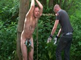 gay porn Total Domination || The perverted dominant men at StraightHell enjoy making the most of their environment when abusing their straight boys. What better way to torment Nicholas than using his phobia of insects against him? Tied to a tree he's unable to escape when the brutal tops taunt him with a giant millipede they capture in the forest. r<br />r<br />The hapless straight lad is terrified to utter panic as the insect is used as a gag. The tops clamp Nicholas' nipples and flog him while he shouts in terror. They then torment his cock and anus using stinging nettles. Download and save the ingeniously brutal new gay S&amp;M videos from StraightHell! r<br />