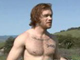 The red hair, muscled and hung James Jameson is back for some more action today. Luckily, we've convinced him to push his limits and got him to suck some cock for us! It's amazing what a little but of financial incentive does for these straight guys. The lucky Shane Frost gets to experience the feeling of James's wet mouth milking his pole. After giving his first blowjob, James wants to dominate again, and bends the slim Shane over, sliding his thick beef into his puckered hole, dealing out a significant ass pounding.