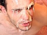 Heavy Gay Jizzload Facial ||