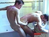 gay porn Naked Wet Dudes Pt 5 || To view the full length hi-resolution version visit Mount Equinox at mountequinox. Randy is our jock type stud with short brown hair featuring a smooth hot little tan body. He was home alone showering when Dylan decided to join him. Dylan has creamy white milky skin and those killer boyish looks with a nice uncut cock. A hot make out session between two young studs in the shower always leads up to a good time. Not long after Dylan is on his knees servicing Randy's nice thick cock. Randy returns the favor with hot shower water pouring down over his head as he swallows every inch of Dylan's young cock. Our boy Dylan sure knows how to eat a good ass as he drives his tongue deep into our young studs tight pink hole. They take turns fucking each other and Dylan is the first to shoot his hot load as Randy's dick is deep inside him. Randy finishes by shooting his juicy load all over our boys face and in his mouth and Dylan wastes no time swallowing every last drop.