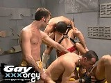 5 army boys enjoy an orgy in the locker room, get this full video and loads more threesome, group sex and gangbang videos at gayXXXorgy