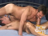 Studs Matthew James and Lee Covington flip flop and love taking every inch of each other!